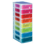 Really Useful Box Multicoloured Storage Unit 8 x 7 Litre Clear Tower Rainbow Drawers