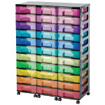 Really Useful Box storage unit black tower with 33 x 7 litre rainbow drawers