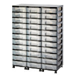 Really Useful Storage Unit 33 x 7 Litre Black Tower Clear Drawers