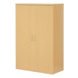 Newbury Office Environment Low Cupboard Oak 80W x 40D x 83H cm