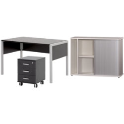 Black & White office furniture range White furniture bundle