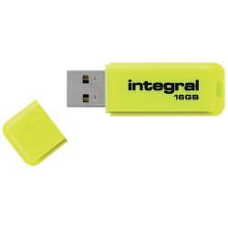 Integral Neon Flash Drive Yellow USB 2.0 16GB