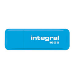 Integral Neon Flash Drive Blue USB 2.0 16GB
