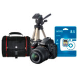 NIKON D3100 Digital SLR Camera Bundle Lens Tripod Case SD Card