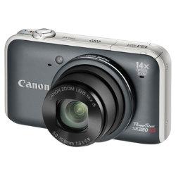 Canon Powershot Sx220 Hs 12.1 Megapixel Digital Camera - Grey