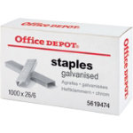 Office Depot Staples Chrome 26 6 Box of 1000