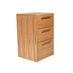 Oakwood oak veneer high office storage pedestal