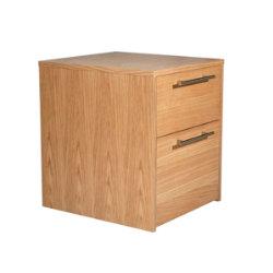 Oakwood oak veneer mobile office storage pedestal