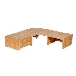 Oakwood oak veneer office desk corner hutch 1200mm