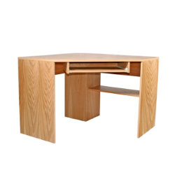 Oakwood oak veneer corner computer workstation
