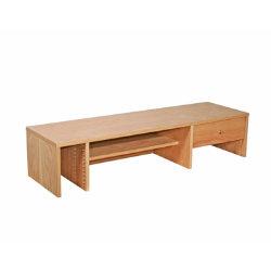 Oakwood oak veneer office desk hutch 1200mm