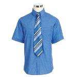 Alexandra Men s Short Sleeved Shirt Mid Blue 18 collar