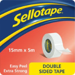 Sellotape Double sided tape 15mm x 5m