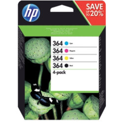 HP 364 Original Black & 3 Colours Ink Cartridge N9J73AE