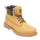 Caterpillar Safety Boots Leather Size 11 Honey Pair