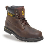 Caterpillar Safety Boots leather size 9 Brown Pair