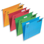 Elba Vertic Flex Ultimate Suspension File Foolscap Yellow Pack of 25