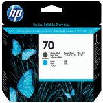 HP 70 Original Matte Black Cyan Printhead C9404A