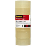 Scotch Easy Tear Clear Tape Small Core 24mm x 33m Pack of 6 Rolls