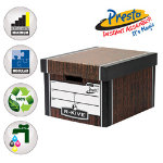 Fellowes Bankers Box R Kive Premium Presto Classic Storage Box Brown 102 FREE