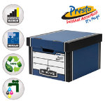 Fellowes Bankers Box R Kive Premium Presto Classic Storage Box Blue 102 FREE