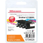 Office Depot Compatible Brother LC1280XL Ink Cartridge Black Cyan Magenta Yellow Pack
