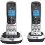 BT Dect Phone BT2700 Twin Silver Black