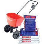 EV N SPRED 1950 Spreader with 4 Bags of Rock Salt