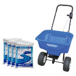 40 litre Salt Spreader  4 x 25kg Bags Rock Salt