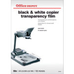Office Depot A4 transparency film for black and white copiers 100 micron Pack of 50
