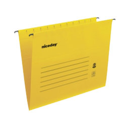 Niceday Flex Suspension File Foolscap Yellow Box 25
