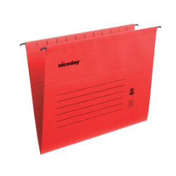 Niceday Flex Suspension File Foolscap Red Box 25