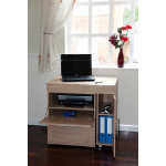 Laptop Computer Hideaway Desk Oak