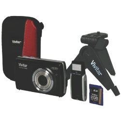 Vivitar T532 12.1 Megapixel Digital Camera Bundle Kit - Black