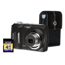 Kodak Easyshare C1530 14 Megapixel Digital Camera Bundle Kit - Blac...