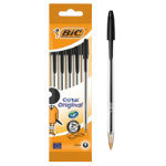 Bic Cristal Medium Ball Pen Black Pack of 5
