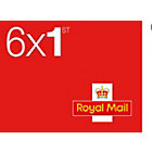 Royal Mail First Class Self Adhesive Postage Stamps 6 Pack