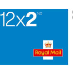 Royal Mail Second Class Postage Stamps 12 Pack