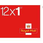 Royal Mail First Class Postage Stamps 12 Pack
