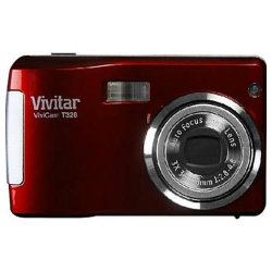 Vivitar Vivicam T328 Digital Camera - Red