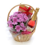 Sparkling Rose Gift Basket