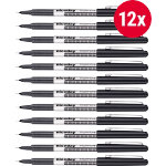 Niceday NSXF04 Needlepoint Pen 04 mm Black Pack 12
