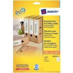Avery Box Of 25 Recycled Short Filing Labels For Narrow Files 7 Labels Per Sheet