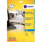 Avery Box Of 10 Large Cable Markers Inkjet Labels 24 Lables Per Sheet