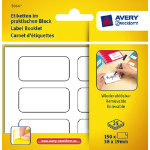 Avery Pack Of 25 Removeable White Multiusage Handwrite Labels 6 Per Pad