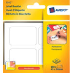 Avery Pack Of 25 Permanent Assorted Multiusage Handwrite Labels 4 Per Pad
