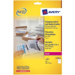 Avery Box Of 40 2 in 1 Label and Paper Label Dispatch Note