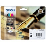 Epson 16XL Original Black 3 Colours Ink Cartridges C13T16364010
