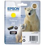 Epson 26 Original Yellow Ink Cartridge C13T26144010