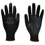 Polyco Matrix P Grip Glove Black Size 6 Extra Small